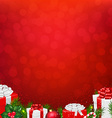 Red Wall With Fir Tree Border vector image vector image