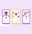 referral program onboarding mobile app page vector image vector image
