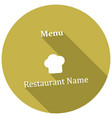 restaurant cloche icon with long shadow vector image