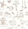 Seamless pattern with Organic farm hand drawn vector image vector image