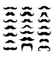 Set of men mustaches for design photo booth
