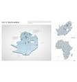 set south africa country isometric 3d map vector image vector image