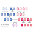 simple your family tree design template vector image vector image