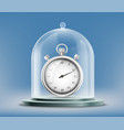sports stopwatch or watch under a glass dome vector image vector image