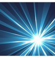 Star burst background in blue vector image vector image