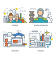 student learning success in education desk work vector image vector image