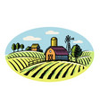 village and landscape vector image vector image