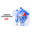 website development concept modern flat design vector image