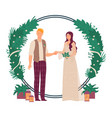 wedding floral decoration vector image vector image