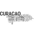 where is curacao located text word cloud concept vector image vector image