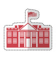 white house american icon vector image vector image
