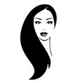 woman with black hair vector image vector image