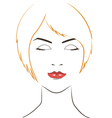 women face with yellow hair vector image vector image