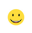 yellow happy face with smile vector image