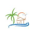 abstract tropical beach vector image