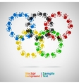 Olympic rings from hand print vector | Price: 1 Credit (USD $1)