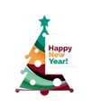 2017 Christmas and New Year Geometric Banner vector image