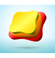 Abstract 3d plates vector image