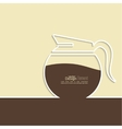 Abstract background with a coffee pot vector image vector image