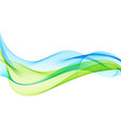 abstract background with smooth color wave vector image vector image