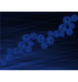 Abstract dark blue background with the currency vector image vector image
