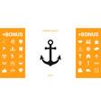 anchor icon symbol vector image