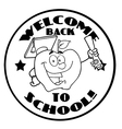 Back to school cartoon logo vector image vector image