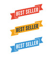 best seller ribbons vector image vector image