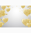 big gold heart metallic balloon for birthday vector image