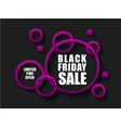 black friday sale banner with pink rings limited vector image vector image