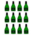 bottles of poison vector image vector image