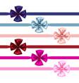 bow and ribbon set vector image