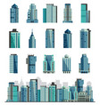 building skyscraper or city skyline set vector image