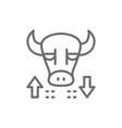 bull stock market finance trade line icon vector image vector image