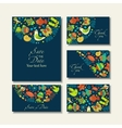 business cards with images on a summer theme vector image