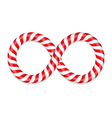 Candy Canes Infinity vector image vector image