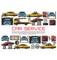car service automobile repair diagnostic station vector image vector image