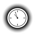 Clock button vector image