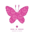 colorful cupcake party butterfly silhouette vector image