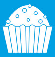cup cake icon white vector image vector image