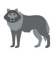 cute smiling wild wolf cartoon vector image vector image