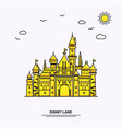 disney land monument poster template world travel vector image