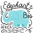 Elephant blue white background isolated vector image vector image
