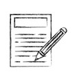 figure paper document with pencil tool design vector image