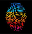 fingerprint retro color vector image