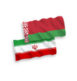 flags iran and belarus on a white background vector image