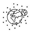 flat earth moon and stars vector image