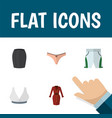 flat icon garment set of trunks cloth lingerie vector image vector image