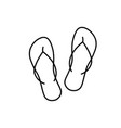 flip flops linear icon on whita background vector image