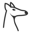 fox head icon vector image